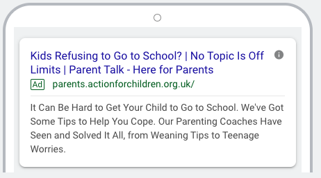Action for Children - Google Ads 2020-10-07