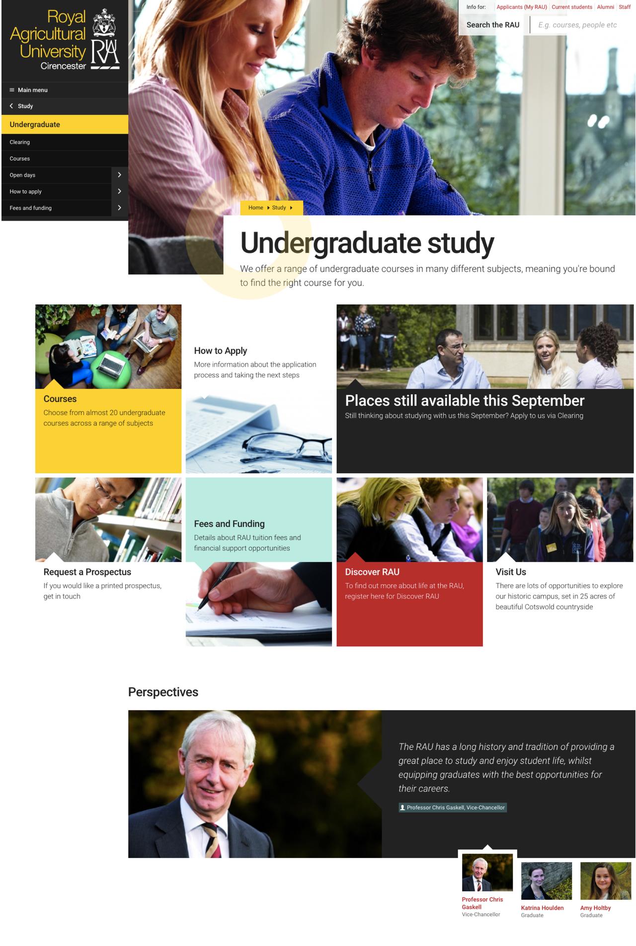 Royal Agricultural University Website