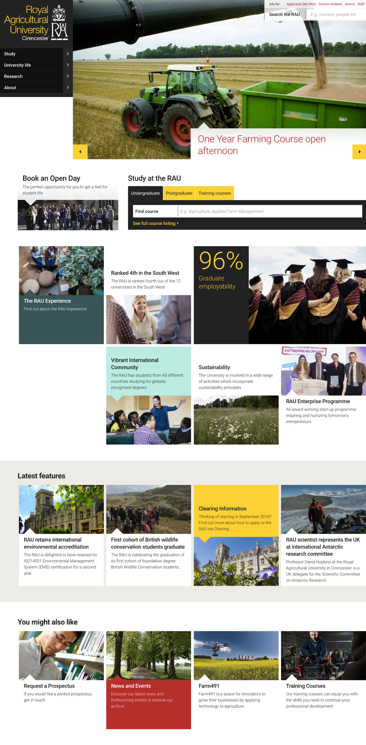 Royal Agricultural University Homepage