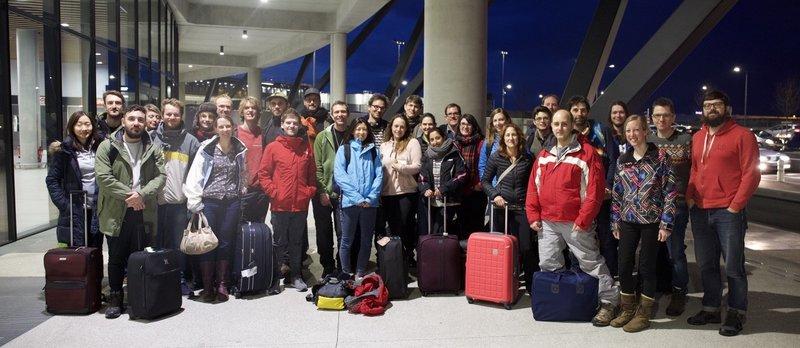 Lyon Airport 2018 ski trip