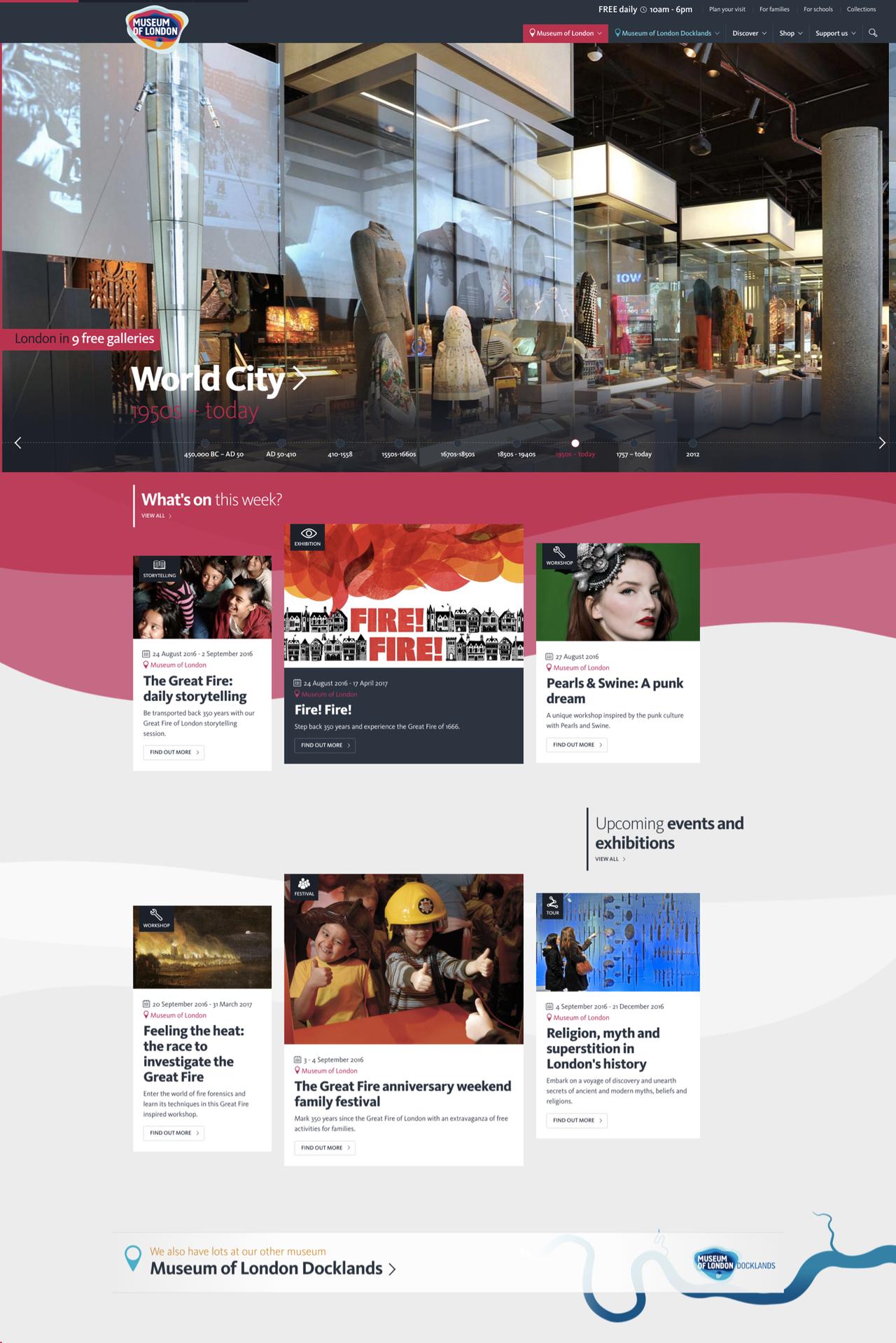 Museum of London Homepage