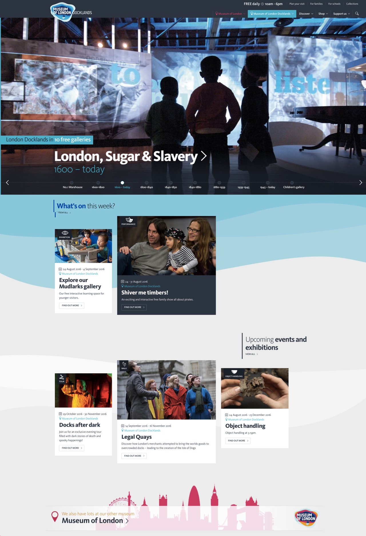 Museum of London Docklands Homepage