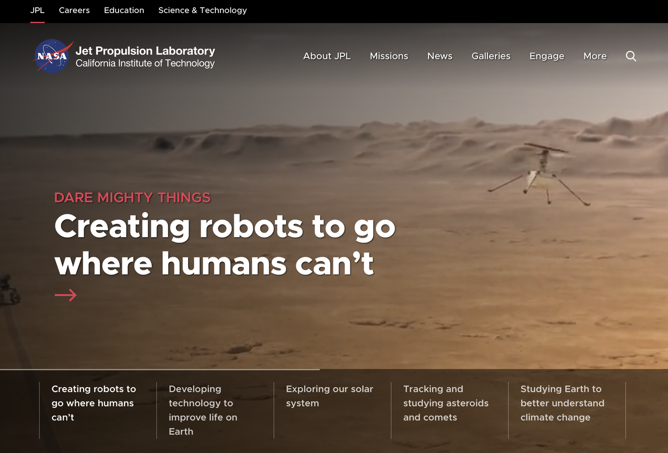 NASA JPL home page